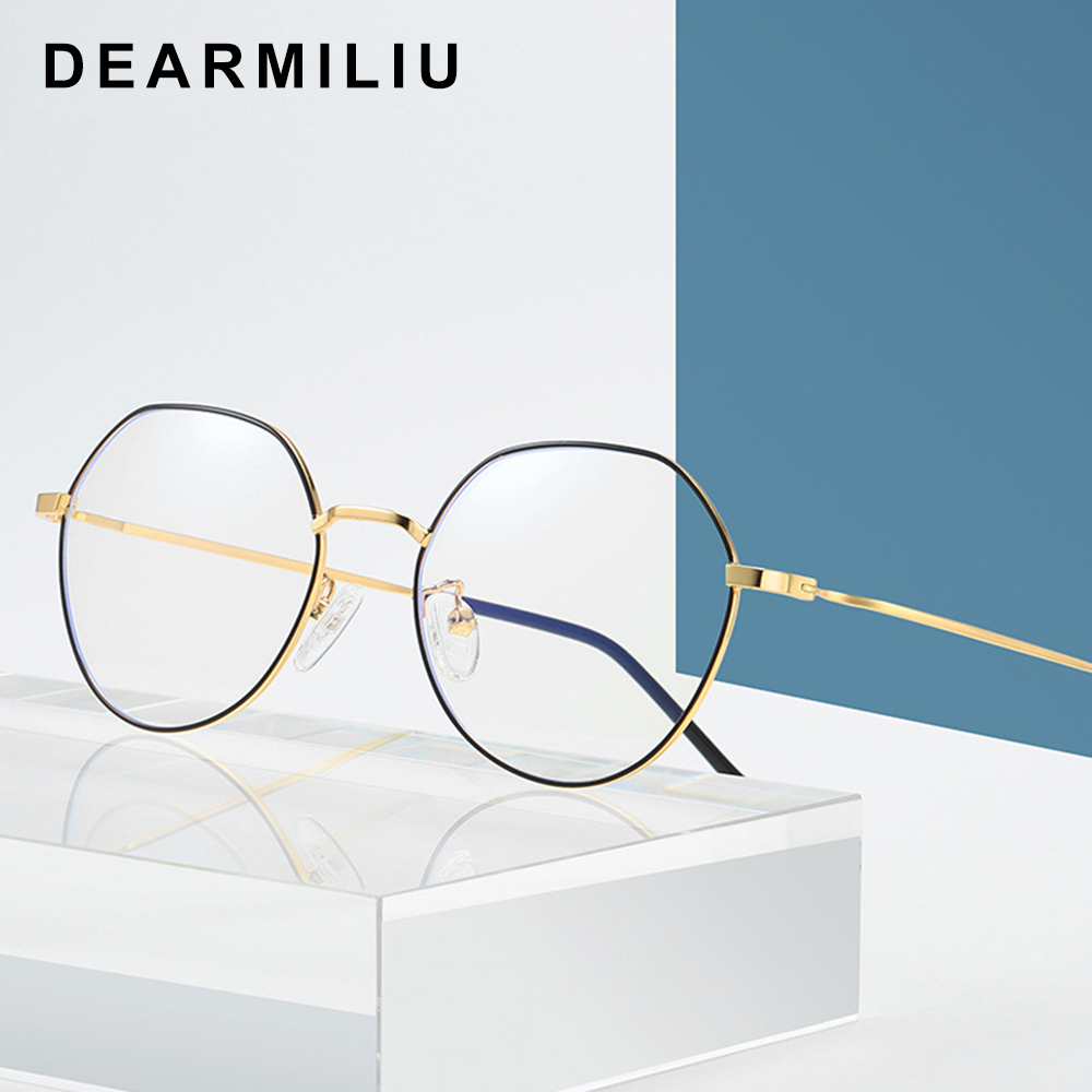 Dearmiliu Rose Gold Frame Anti Blue Light Blocking Glasses Led Computer Reading Glasses Radiation-resistant Gaming Eyewear