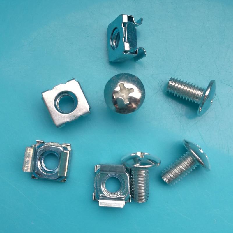Rack Mounting Screws For Cabinet 100% Original M6 Screws screw+washer+cage Nut 50 Sets Pack