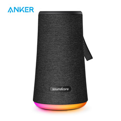 Soundcore مضيئة + مكبر صوت بخاصية البلوتوث قابل للنقل بواسطة Anker ضخم 360 'الصوت IPX7 مقاوم للماء أكبر باس المحيط LED 20 ساعة وقت اللعب