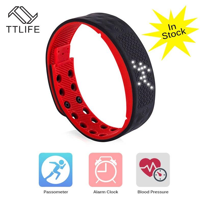 TTLIFE TW2 Smart Watch LED Light Fitness Tracker Bracelet Pedometer Monitor NO Bloodpressure Heart Smart wristband
