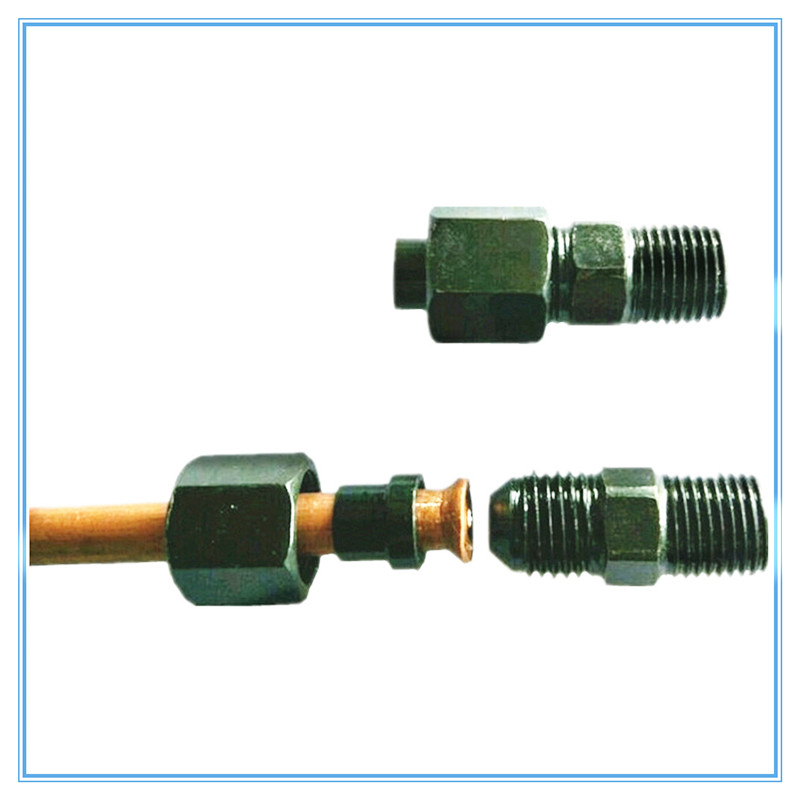 Hydraulic Tubing Reaming Direct Carbon Steel Joint  M10*1/M12*1.5/M14*1.5/M16*1.5/M18*1.5/-6/8/10/12 Pipe Fitting