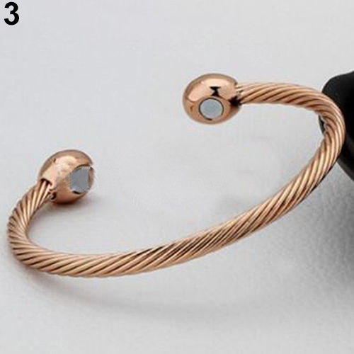 BLUELANS Healing Copper Magnetic Therapy Bracelet Bangle