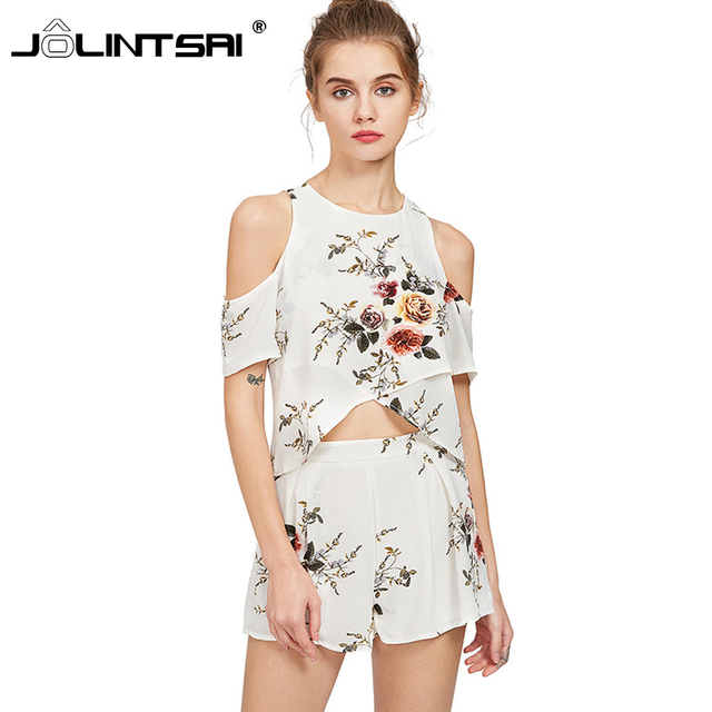 Sporting Suit Women Blouse 2017 New Summer Fashion Print Women Top and Shorts  Set Casual Female 7ec76ce13