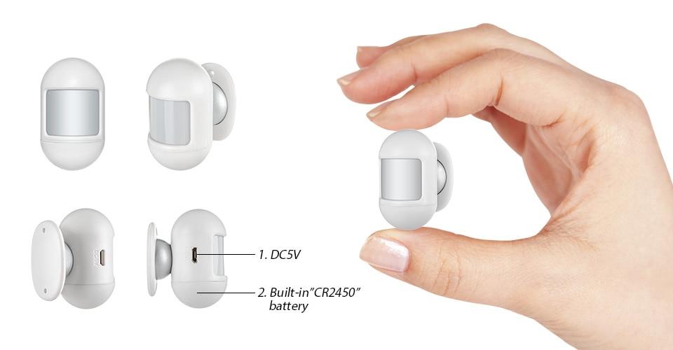 sem fio 2.4 Polegada tela alarme acessórios kit
