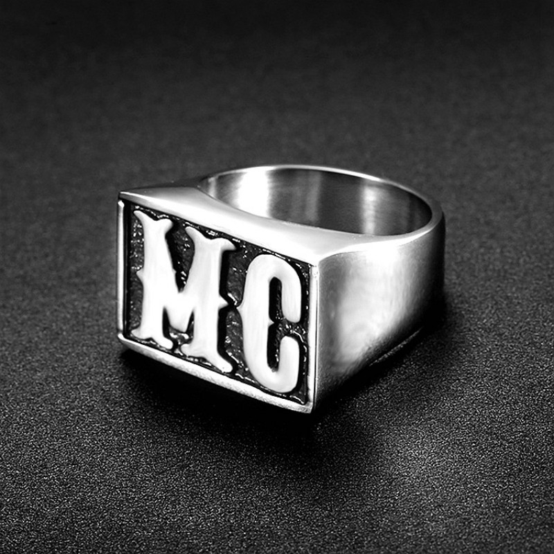 Hot Sale The Sons Of Anarchy Mayans MC Rings Men Rock Punk Cosplay Accessories Harle Punk Retroy Motorcycle Ring Finger Rings