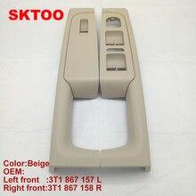 2 adet Skoda Superb 2008 2013 için Kapi Kolu Bej Pencere Anahtarı Kontrol Paneli Trim Sol ve Sağ 3TD 867 157 A/158 A