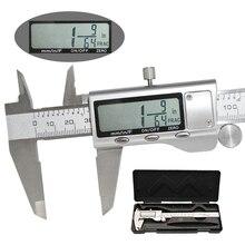 Нержавеющая сталь цифровой метрический/дюйм/фракционный курсор цифровой суппорт Электронный микрометр измерительный инструмент