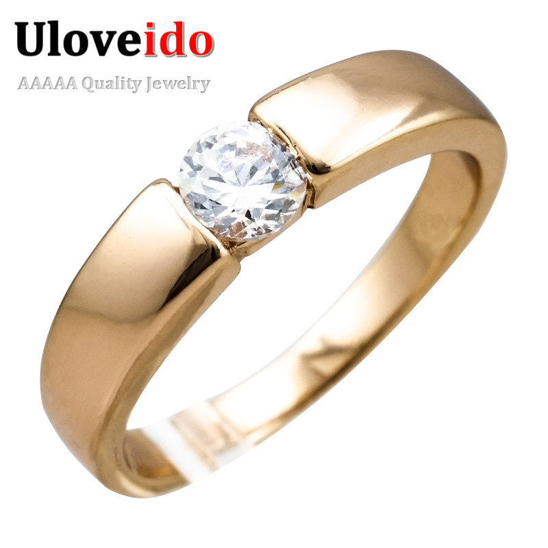 Uloveido 2017 Rose Gold Plated Micro Pave Mens Cheap Wedding Big Boy