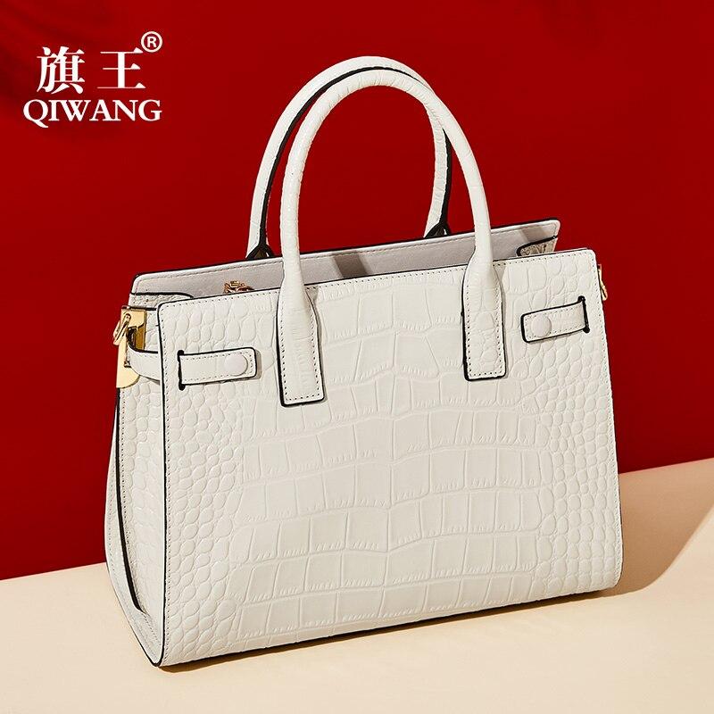 Blanc sac pour femme En Cuir Véritable de la Mode Féminine Sacs À Main sacs à bandoulière Pour sacs de postier pour femmes Marque Conception bolsa feminina