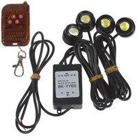 One To Four 4 X 1 5W Strobe Flash Eagle Eye LEDs Car Light With Wireless