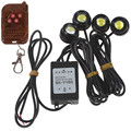 Venda quente! um a Quatro 4x1.5 W Flash Strobe Águia Olho Luz LEDs Carro com Controle Remoto Sem Fio