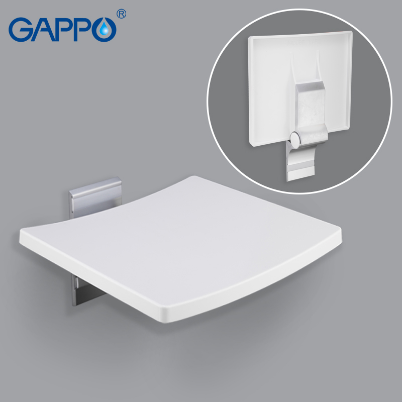 Surprising Us 99 94 49 Off Gappo Wall Mounted Shower Seats Folding Shower Seat Wall Chair Bench Bathroom Toilet Chair Bath Shower Stool Folding Bench In Wall Ocoug Best Dining Table And Chair Ideas Images Ocougorg
