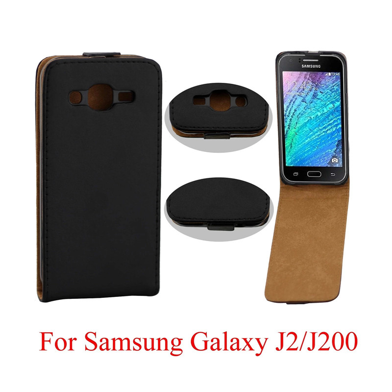 Vertical PU Leather Flip <font><b>Case</b></font> Fundas Capa For <font><b>Samsung</b></font> <font><b>Galaxy</b></font> J2 <font><b>J200</b></font> Cover TPU <font><b>Case</b></font> Up-Down Open skin pouch Mobile Phone Bags image