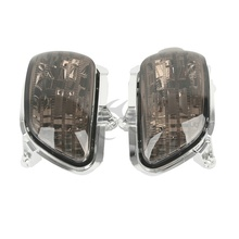 цены Smoke Front Turn Signal Lens Shell Cover For Honda Goldwing GL1800 2001-2014