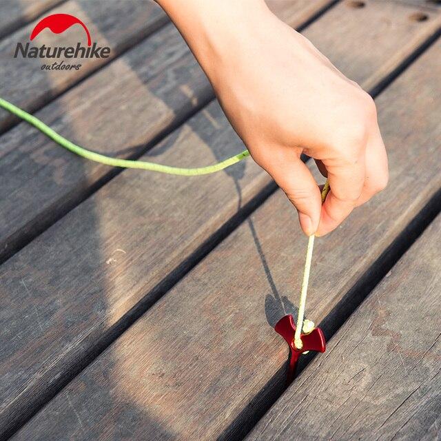 Naturheike 4pcs set Camp Wind Rope buckle Herringbone floor Nails Tent Pegs Camping Hiking Travel Kits Deck Floor pegs