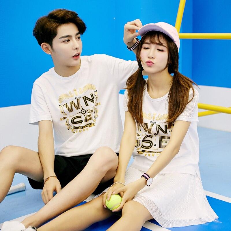 Camisa de algodão T Verão Camisa Original Vestido Roupa Nova T-shirt do sexo Masculino e Feminino