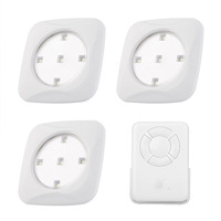 New 3Pcs Led Puck Light NightLight Remote Control 5 LED Cabinet Light Wireless Spot Light Stick