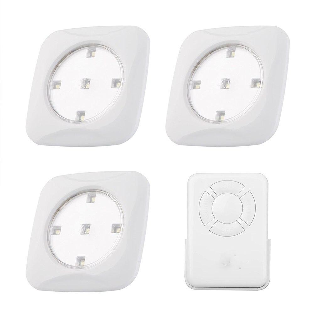 Nuevo 3 piezas led Puck luz de Control remoto 5 llevó la luz del Gabinete inalámbrico luz Stick-en cualquier lugar grifo por la noche! lámparas