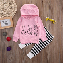 Christmas 2017 New child Child Hoodies Garments Units For Lady Toddler Lengthy Sleeve Sweatshirt Prime+Lengthy Pants 2Pcs Child Outfits Set