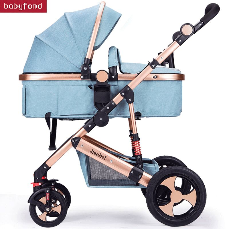 2018 Baby Stroller Can Sit and lying stroll Folding  High Landscape Four Seasons Universal Baby  pram 2  in 1 stroller
