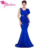 DearLover New Arrival Elegant Gowns Long Dress Women Asymmetric Ruffle Peplum Mermaid Party Dress Vestido Longo