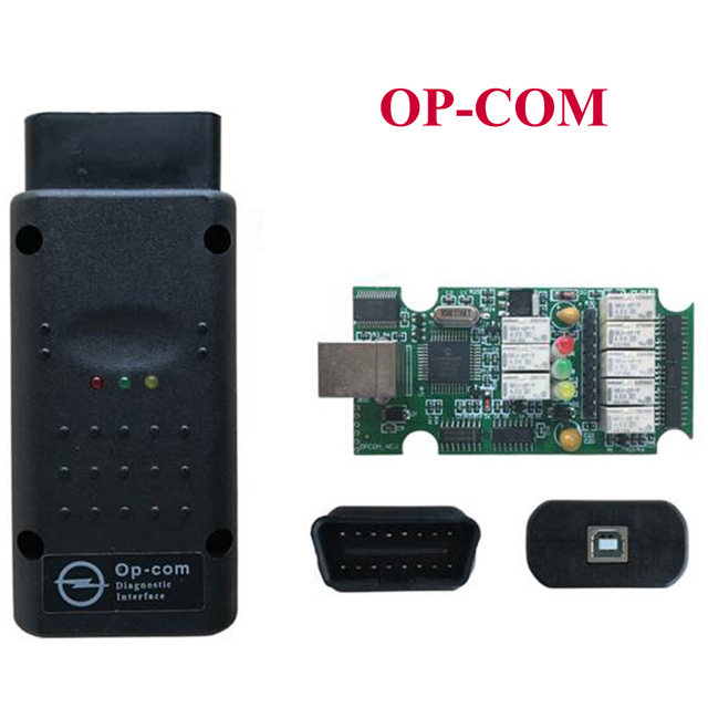 US $16 8 |Latest Version OP COM V1 70 with PIC18F458 Chip Diagnostic Tool  OpCom Can Bus Diagnostic Tool for opel OBD2 OBDII Scanner Tool-in Code