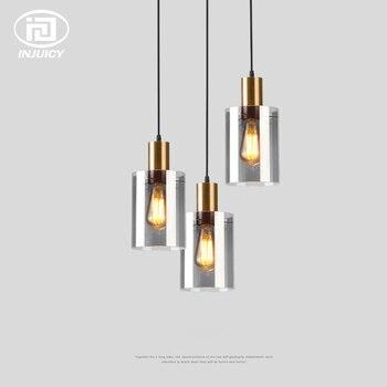 Nordic Single-headed Glass Pendant Lights Post-modern Bedside Bedroom Dining Room Model Room Pendant Lamp