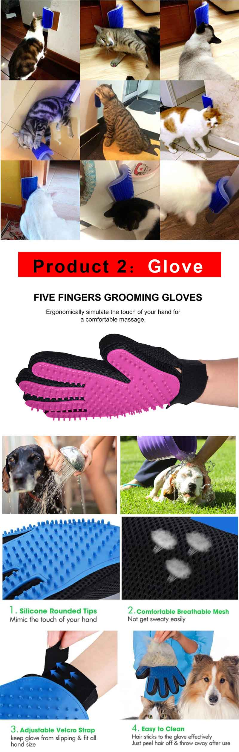 HTB1bHxHE25TBuNjSspcq6znGFXau Cat Self Grooming Hair Accessorie With Catnip Angle Face Tickling Dog Hair Removal Massage Brush Comb And Pet Dog Cat Grooming Glove