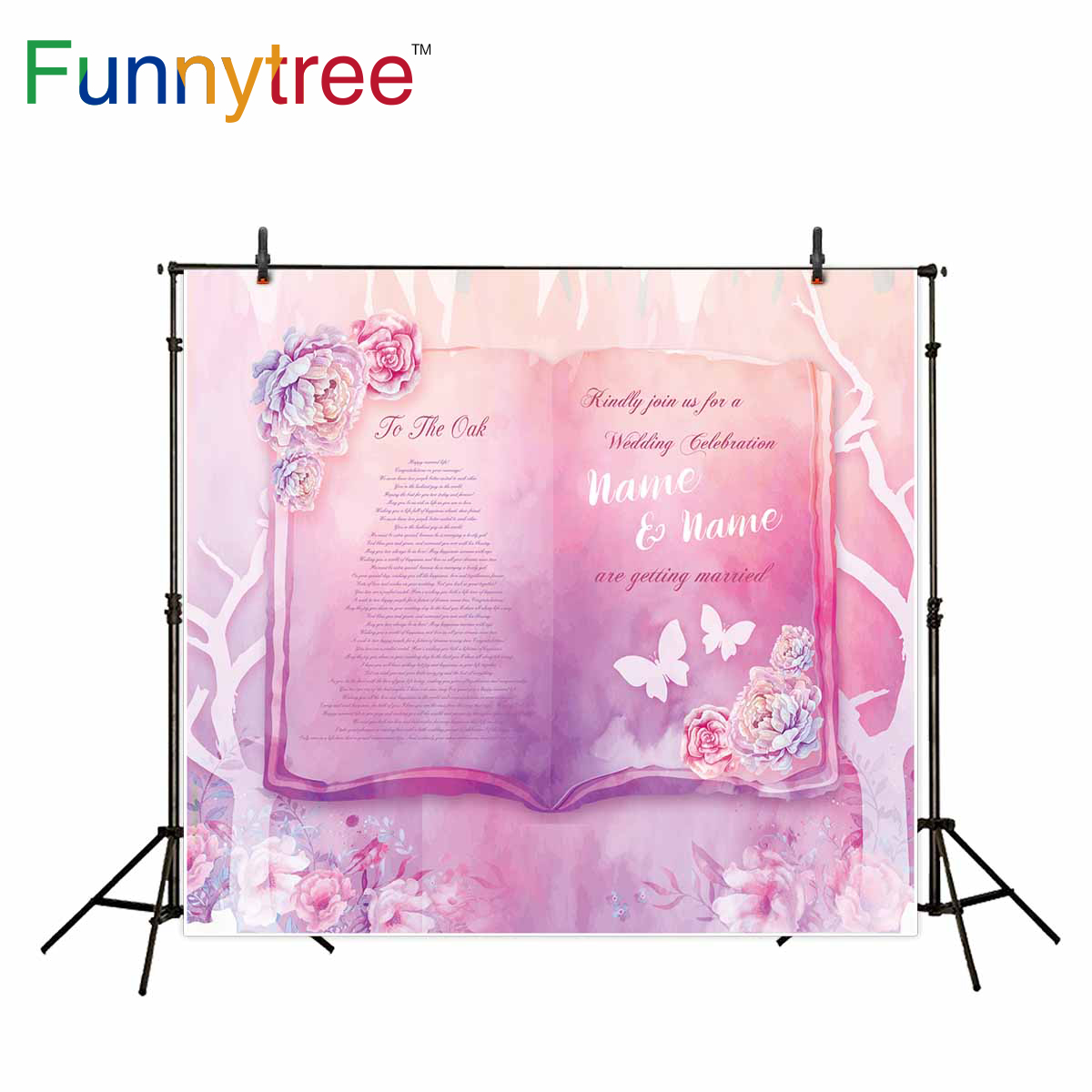 Funnytree background for photo pink wedding flower communion fairy ...