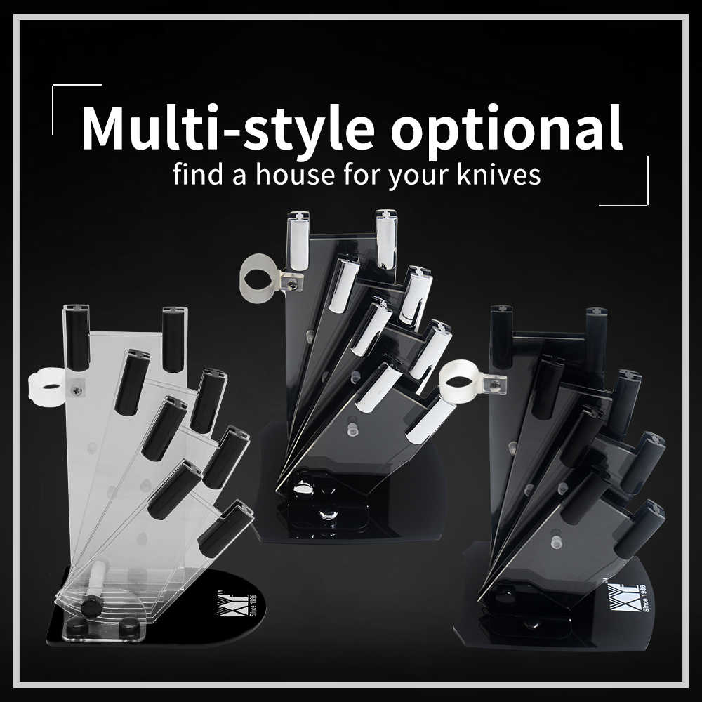 XYj Kitchen Knife Holders Kitchen Ceramic Knife Block Universal Ceramic Knife Storage Stand Tool Holder Kitchen Gift Knife House