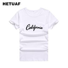 7269f969b9d9 HETUAF California Printed Tshirts Cotton Women Tops 2018 Hipster Harajuku  Ulzzang Tee Shirt Femme Basic Streetwear