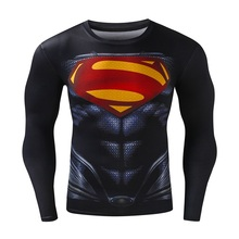 New Fashion Fitness Compression Shirt Men Cosplay Male Crossfit Plus Size Bodybuilding Men T shirt 3D Printed Superman Top