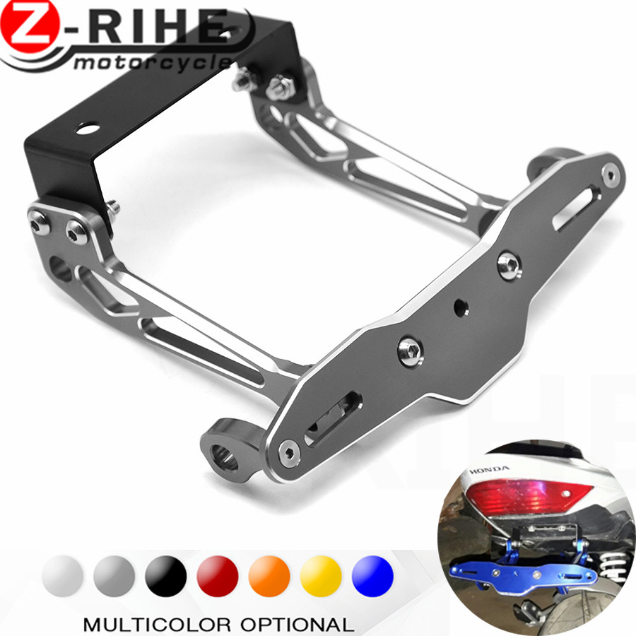 Fender Eliminator motorcycle License Plate Bracket Ho Tidy Tail Universal For HONDA X4 NC700 S X vfr 1200/f xl1000 varadero mt09 for suzuki gsx r600 k6 motorcycle fender eliminator license plate bracket tail tidy tag rear for suzuki gsxr750 k6 2006 2007