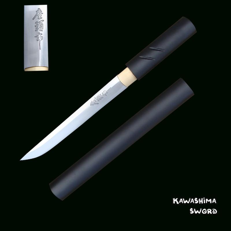 For Handmade ZATOICHI  Japanese Shirasaya Samurai Katana Tanto Real Sharp Sword 1045 Carbon Steel Letter Opener-Small Knives
