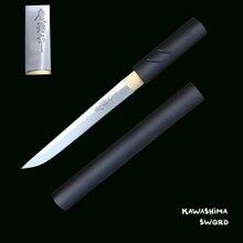 Für Handgemachte ZATOICHI Japanischen Shirasaya Samurai Katana Tanto Echt Sharp Schwert 1045 Carbon Stahl Brief Opener-Kleine Messer