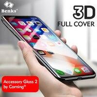 Benks 유리 아이폰 X 강화 유리 화면 보호기 3D 곡선
