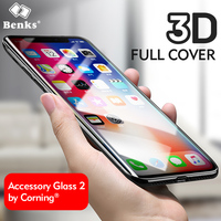 Benks Glass For IPhone X Tempered Glass Screen Protector 3D Curved Edge Protective For IPhoneX Tempered