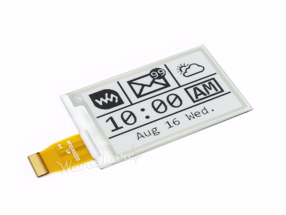 Waveshare 264x176 2.7inch E-Ink Raw Display SPI Interface Black/white Display E-paper Compatible Raspberry Pi/Arduino/STM32