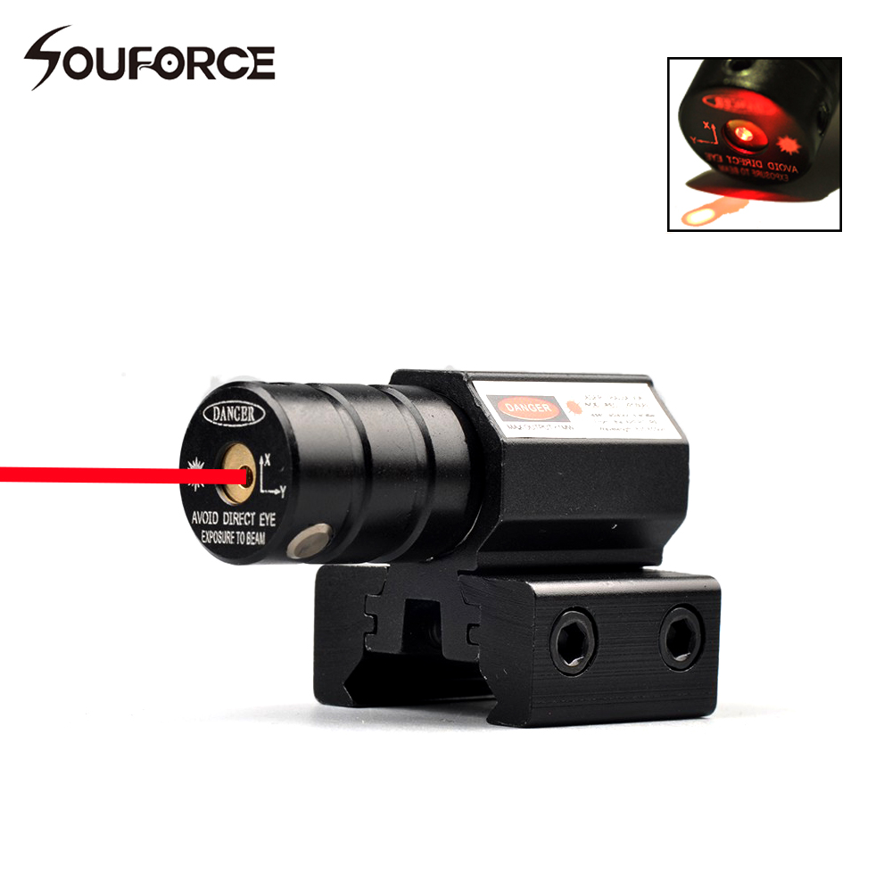 Tactical Red laser Pointer Sight Adjustable 11mm or 20mm Picatinny Rail Gun Rifle Pistol Sight for Hunting Acc