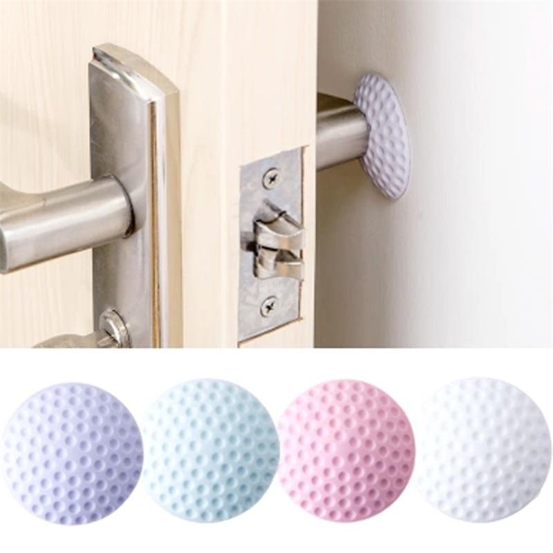 Hight Recommond Rubber+Strong Gel Love Home Door Doorknob Back Wall Protector Savor Shockproof Crash Pad