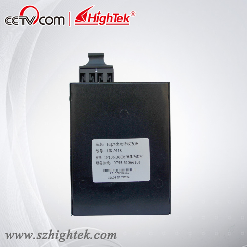 HighTek HK-9118 Single-mode 60km 10/100/1000M Fiber Optic converter, fiber optic connector, fiber optic media converter new new sfp 1550nm100 km gigabit single mode fiber optic sfp 10g zr module