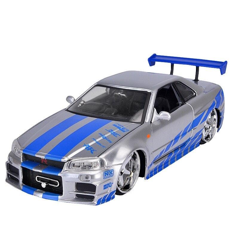 1:24 échelle alliage 2002 Nissan horizon GTR R34 jouet voitures rapide et furieux moulé sous pression modèle enfants jouets Collection cadeaux pour enfants