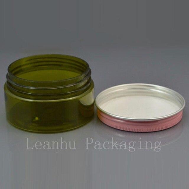 100g (50 pc/lot) pot à crème, avec pot déchantillon rose/or/blanc, vitrine, haute qualité 100g petite bouteille en plastique