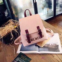 2017 НОВАЯ мода harajuku ulzzang девушка PU покрытие Письма вышивка небольшой Рюкзак женские школьный женщин путешествовать сумка