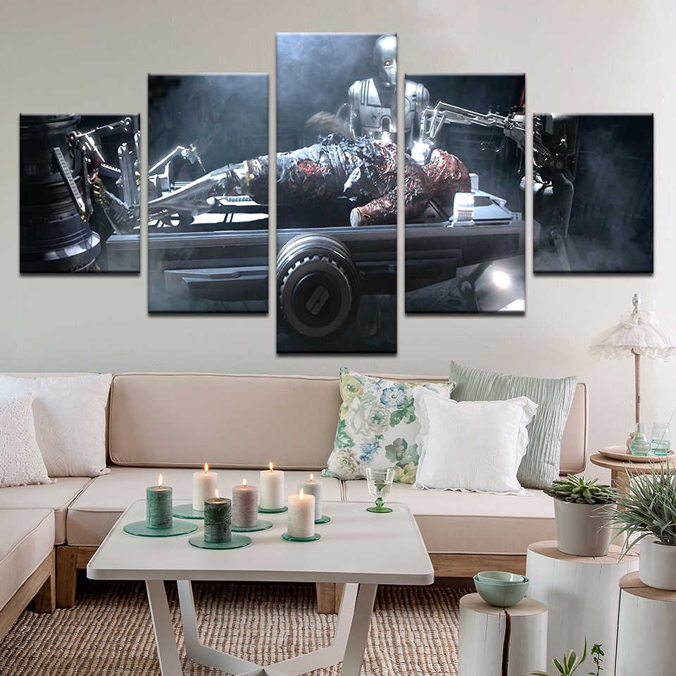 Movie Star Wars Episode Iii Revenge Of The Sith Poster 5panel Canvas Painting Hd Print Modern Living Room Wall Art Decor Aliexpress