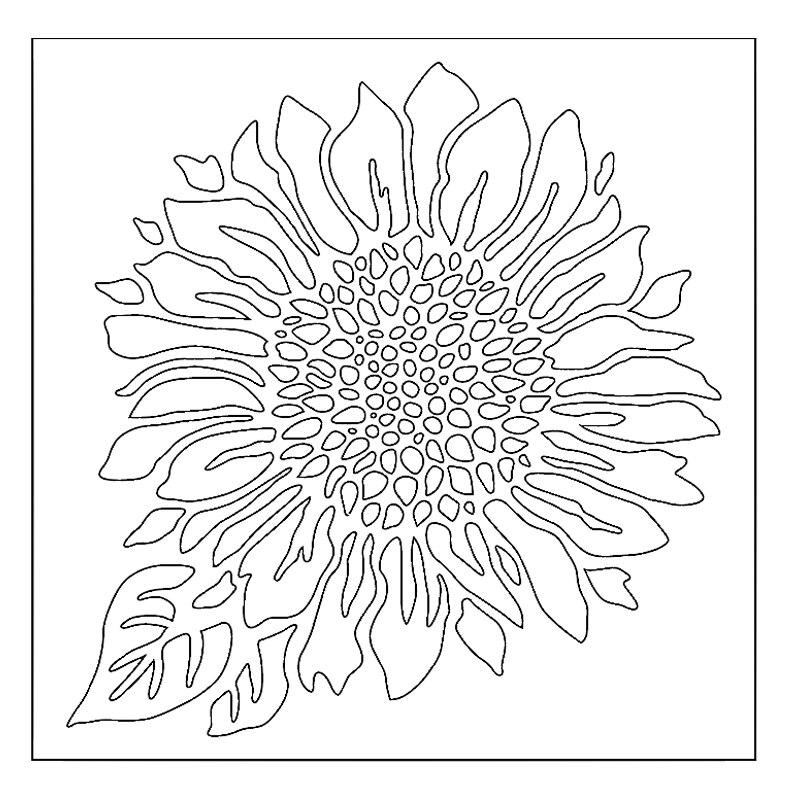 Menyenangkan Bunga Matahari Stensil Untuk Diy Scrapbooking Embossing Kartu Kertas Membuat Dekoratif Kerajinan Plastik Menggambar Lembar Template 6x6in Hiasan Aliexpress