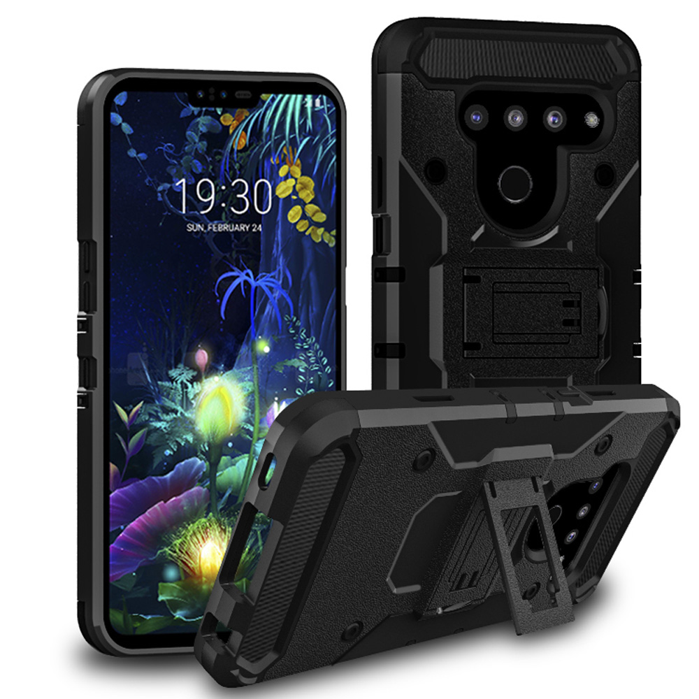 For LG G8 ThinQ Heavy Duty Armor Case Belt Clip Holster Shockproof Cover V50 Protection Kickstand case