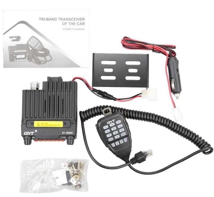 QYT KT 8900R 25W/20W 136 174/240 260/400 480Mhz mini tri band mobile radio two way radio vehicle mounted