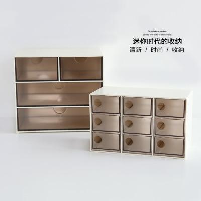 Творческий Пластиковый Коробка органайзер ящик бюро организатор пластиковый ящик для хранения шкафы для хранения с ящиками