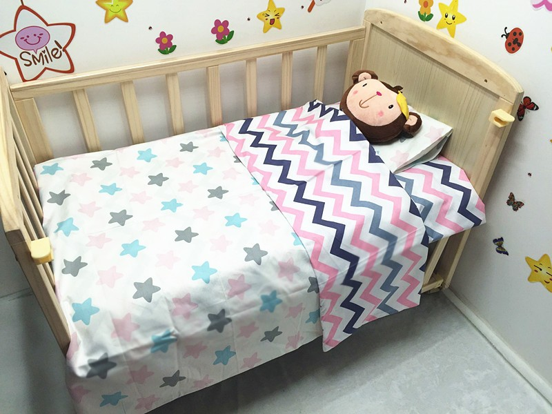 Promotion! 3PCS Baby Boy Crib Cot Bedding Set baby bed linen bebe jogo de cama ,include(Duvet Cover/Sheet/Pillow Cover) discount 3pcs embroidery baby bedding set jogo de cama infantil bed berco de bebe bed crib set include bumper duvet bed cover